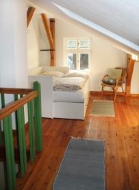 Dachgalerie mit Doppelbett